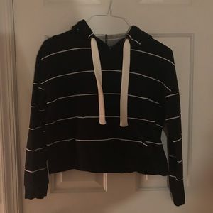 Free Press Black and white striped hoodie